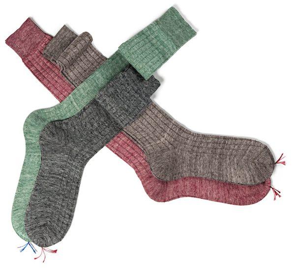 носки из стопроцентного льна